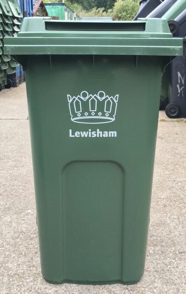 Lewisham green recycling bin