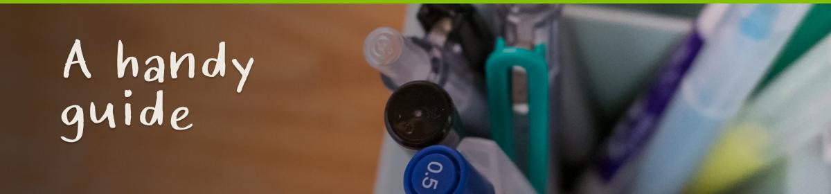 Close up of pens